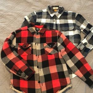 Other - A Pair of Boys Flannel Shirts